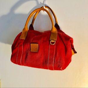 Dooney & Bourke  Canvas Duffle Bag Leather